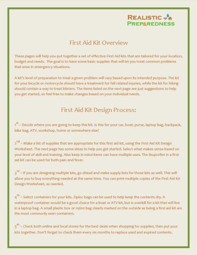 Free First Aid Kit PDF