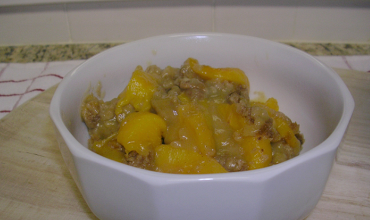 Cookout Peach Cobbler