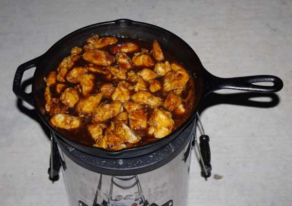 cooking teryaki chicken