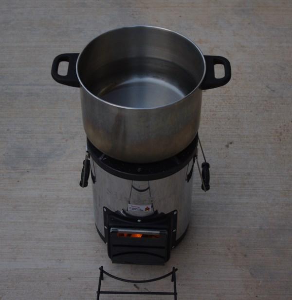 running stove
