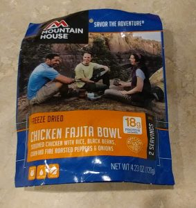 Mountain House Chicken Fajita Bowl Freeze Dried Pouch