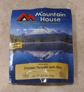 Freeze Dried Mountain House Chicken Teriyaki with Rice