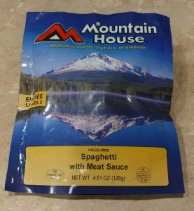 Mountain House Freeze Dried Spaghetti Pouch